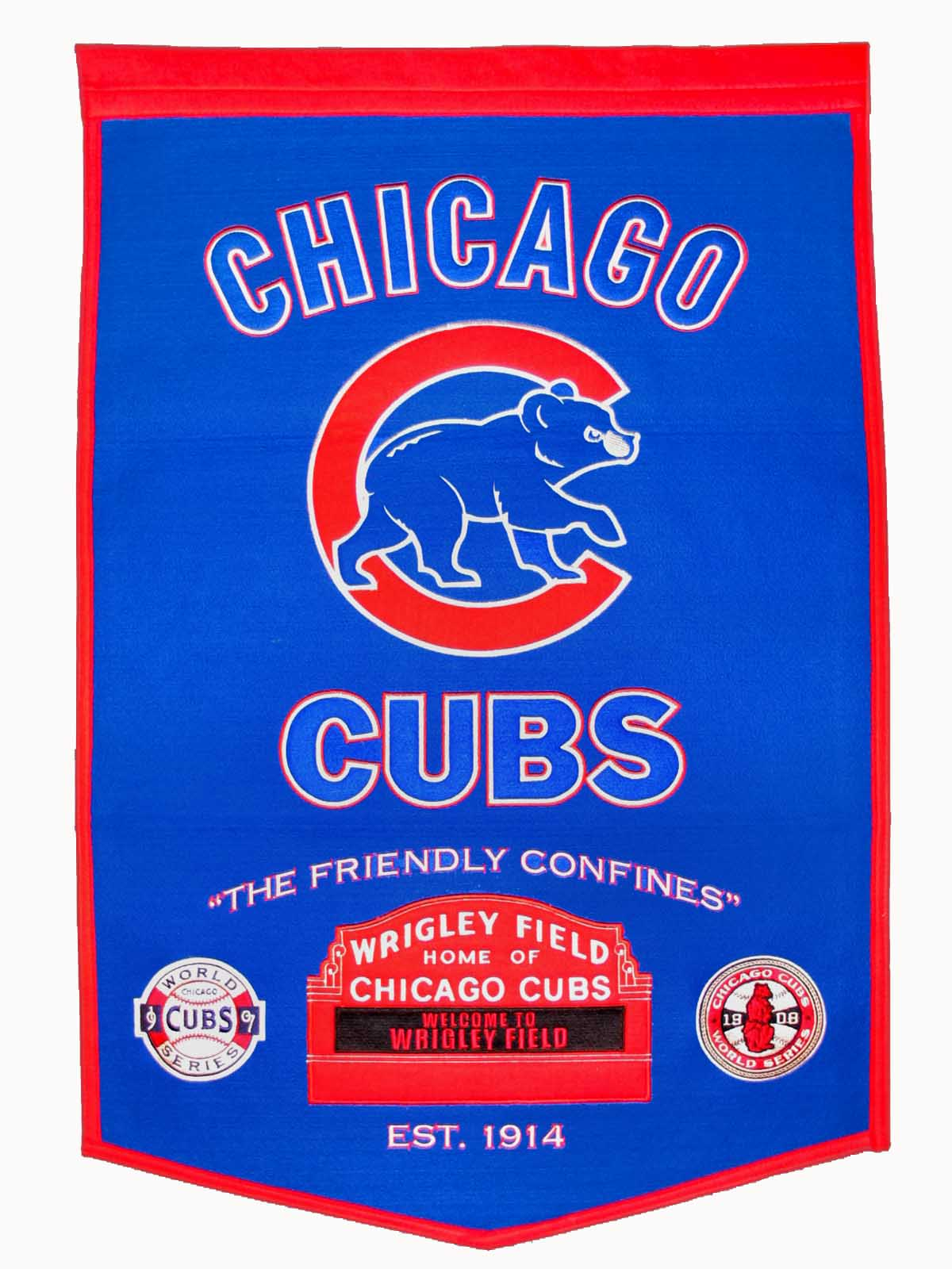 Gps Sports Gallery Chicago Cubs Dynasty Wool Banner 24 215 36