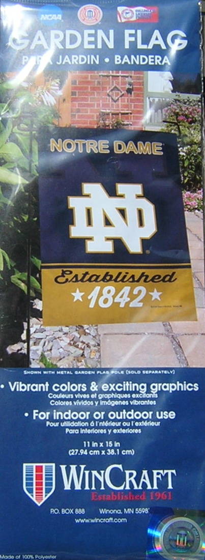 Notre Dame Fighting Irish Garden Flag 11×15 EXCLUSIVE
