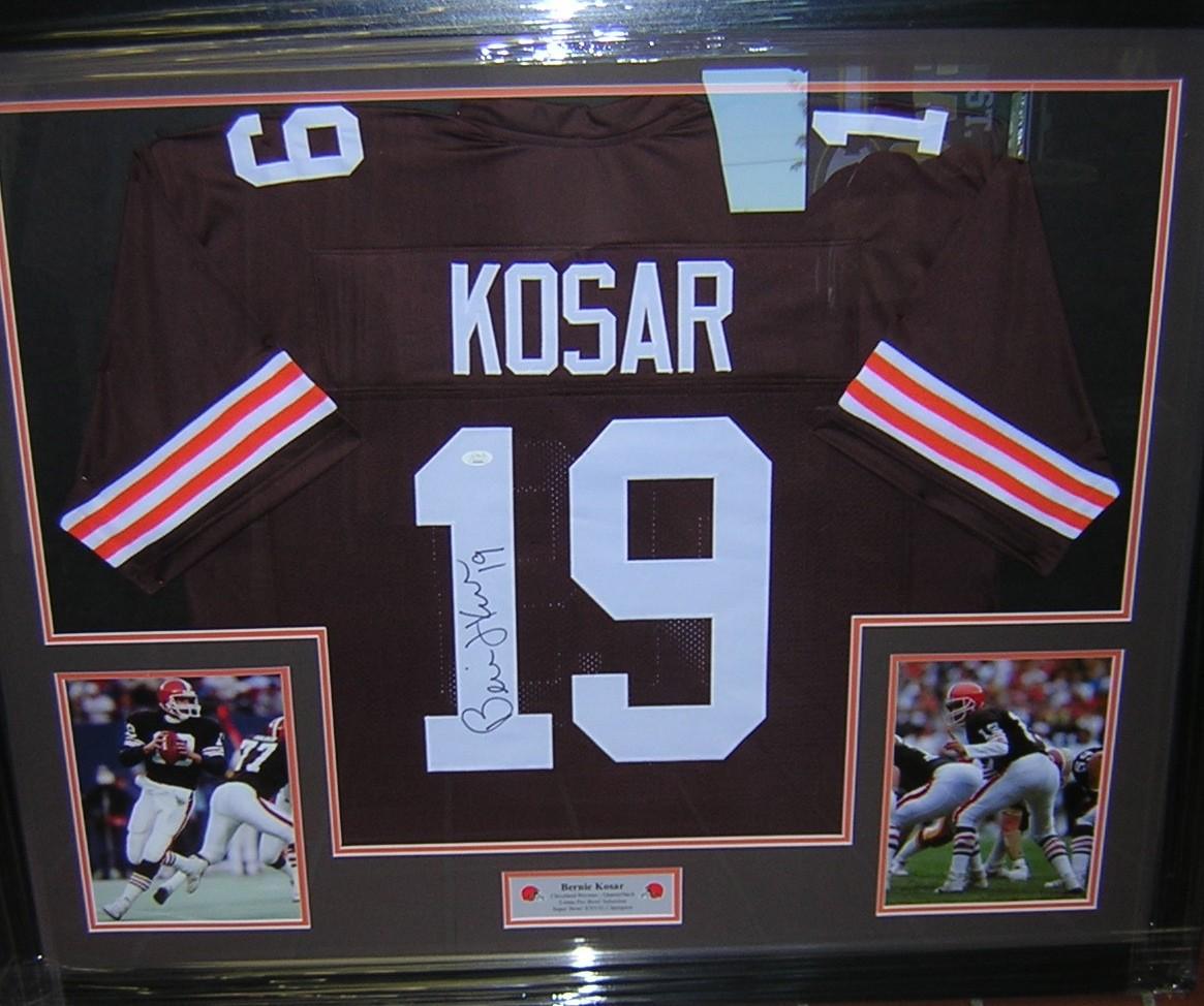 Bernie Kosar Framed Jersey JSA