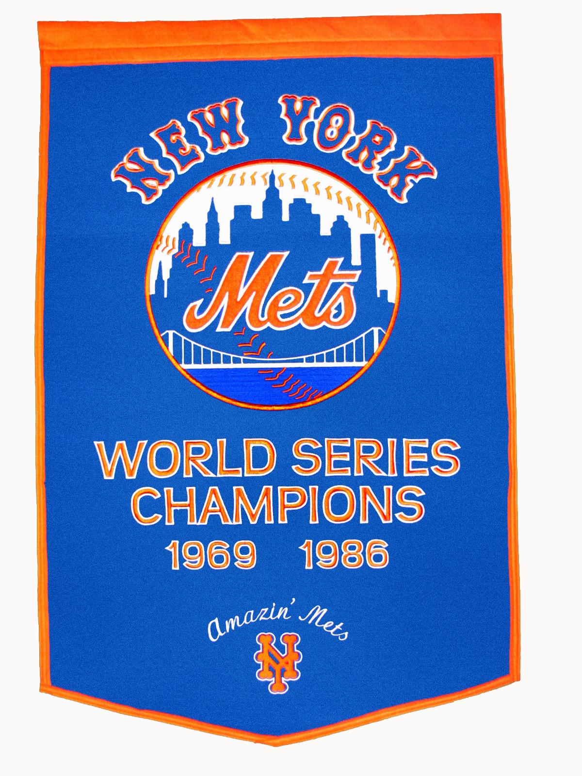 New York Mets Dynasty World Series Banner 24 215 36 Gps