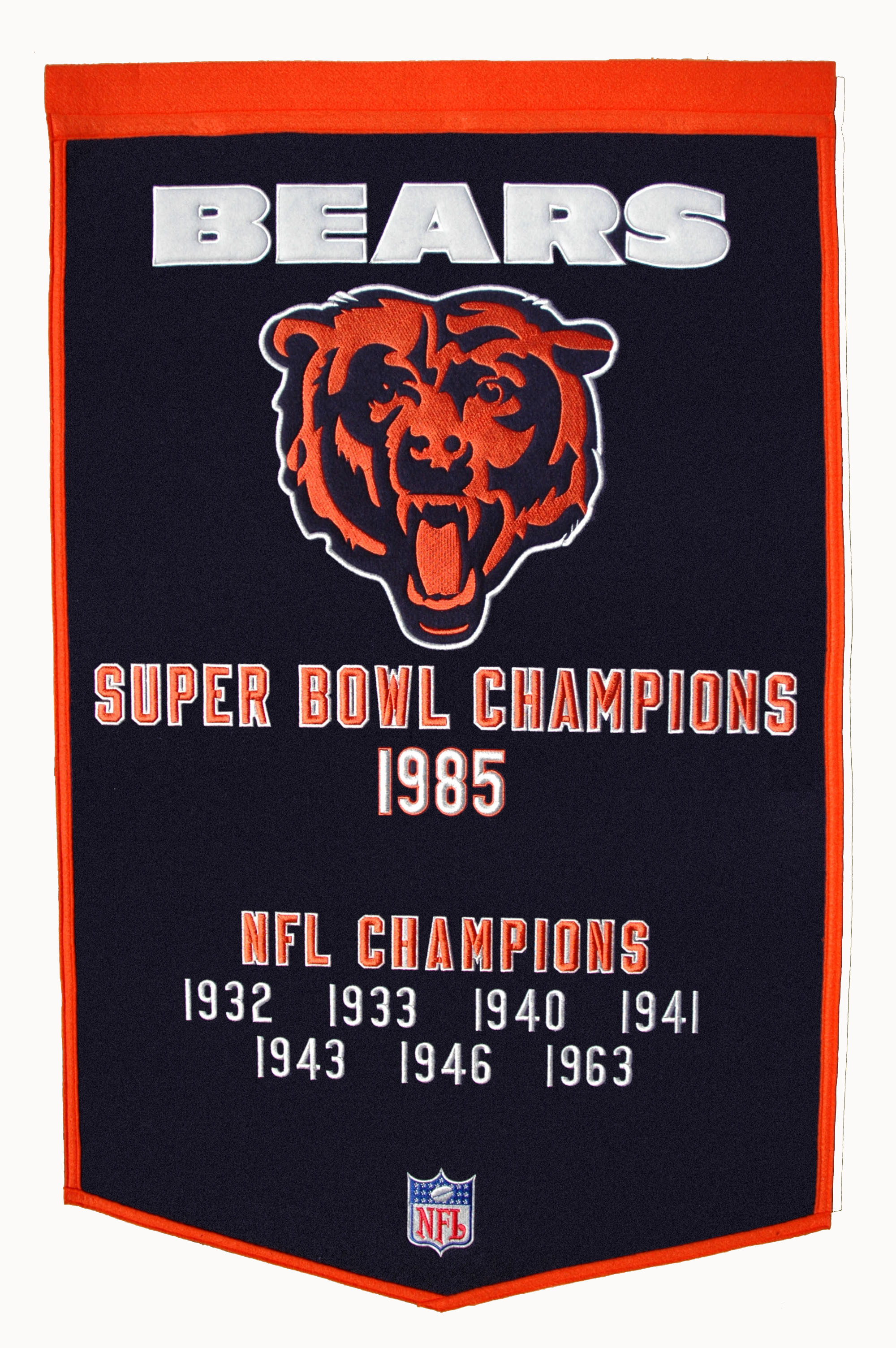 low priced b95f8 ce662 Chicago Bears Super Bowl Wool Banner 24 x 36
