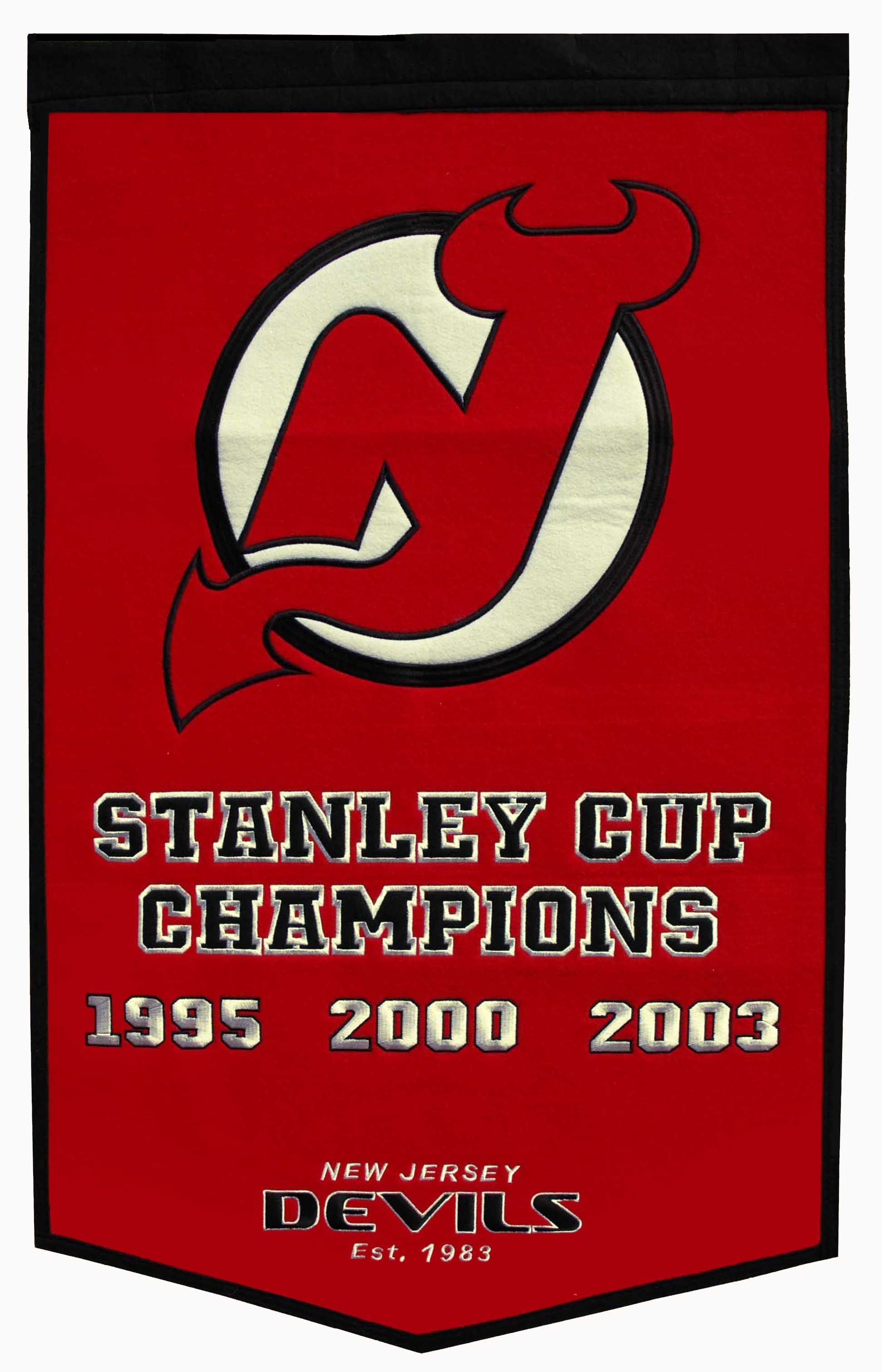 New Jersey Devils Stanley Cup Banner 24×36 – GPS Sports Gallery 26fc3c1ad