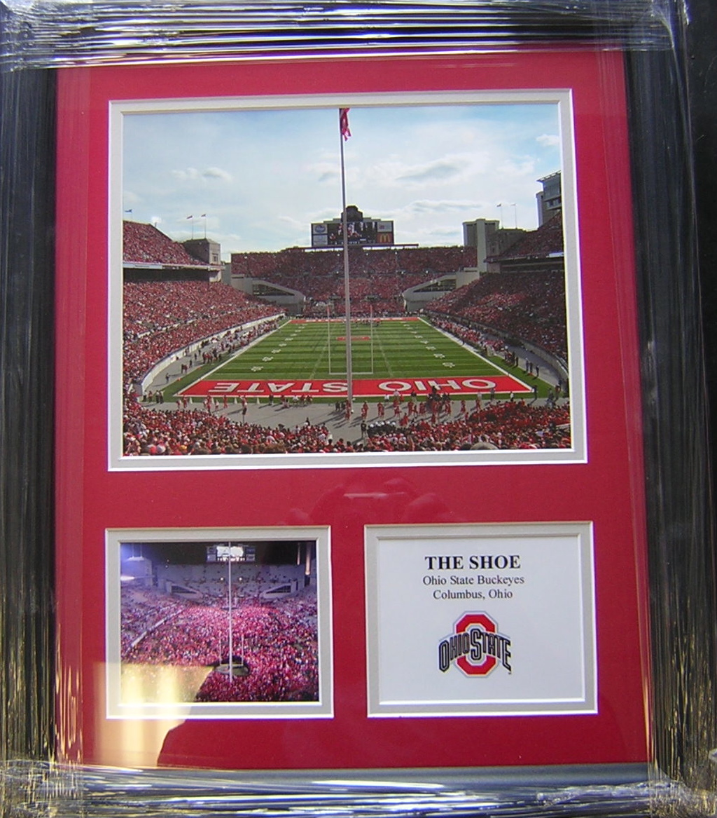 Ohio State Stadium Quot The Shoe Quot Framed 18 215 15 Gps Sports