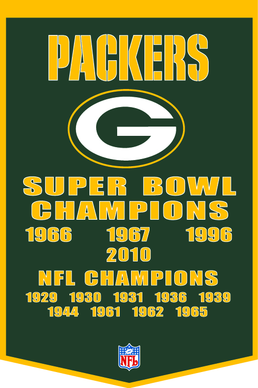 Packers 24 Gallery Gps Bay – Green 36 Championships Wool Sports Banner X